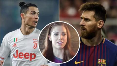 Hoa hậu bóng đá chọn người xuất sắc hơn giữa Ronaldo và Messi