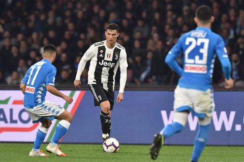Ronaldo sẽ trút giận lên mành lưới Napoli đêm nay