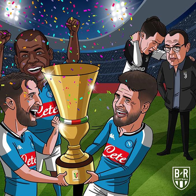 Ronaldo mất tích, Juventus ngậm ngùi nhìn Napoli vô địch Coppa Italia