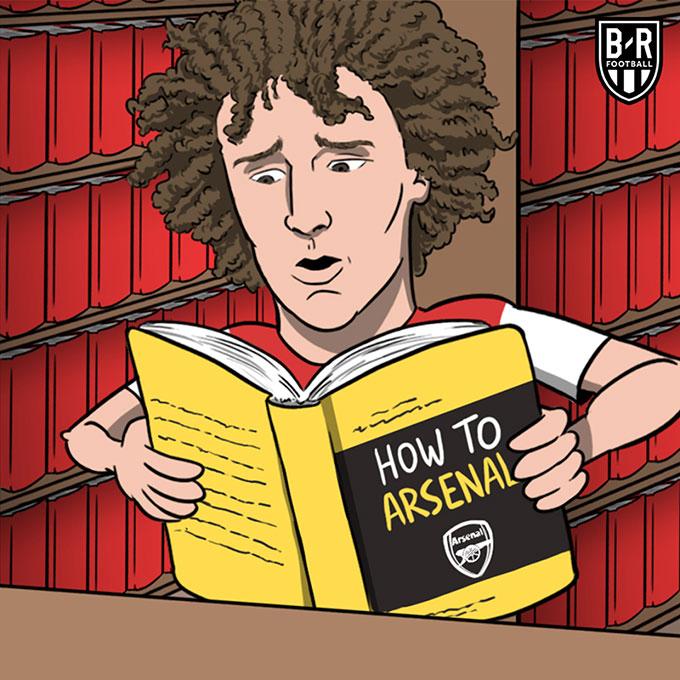 """David Luiz học bí kíp """"Làm thế nào để nát như Arsenal"""" và có vẻ như anh đã luyện thành công."""