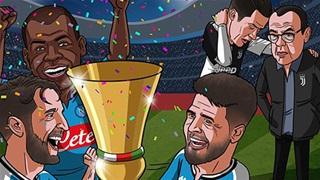 Tổng hợp biếm hoạ: Ronaldo dâng cúp cho Napoli?