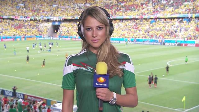 Vanessa Huppenkothen: 32 tuổi và đang là nữ phóng viên thể thao của đài truyền hình Televisa (Mexico)