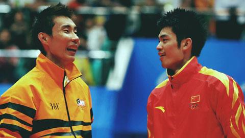 Lee giờ đã treo vợt, còn Lindan (phải) đang chật vật tìm vé dự Olympic Tokyo