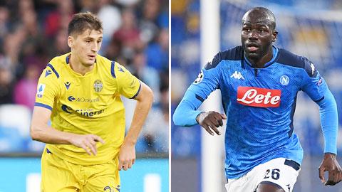 Verona - Napoli: Chờ màn đối đầu Kumbulla và Koulibaly