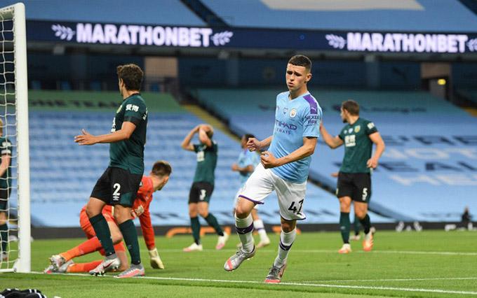 Man City vừa thắng tưng bừng trên sân của Burnley khiến Liverpool phải hoãn ngày đăng quang