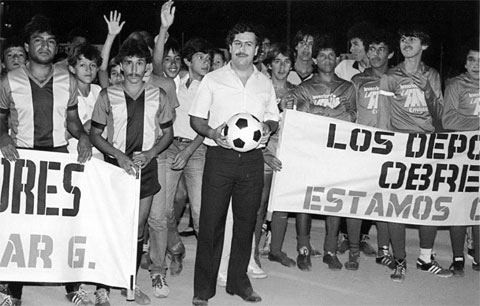 Pablo Escobar từng có ảnh hưởng nhất định khi thao túng bóng đá Colombia cách đây 30 năm