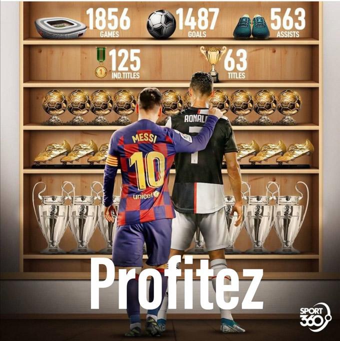 Sự nghiệp đồ sộ của 2 siêu sao vĩ đại làng bóng đá thế giới