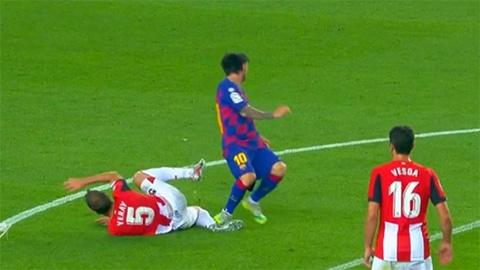 Messi thoát thẻ sau pha bóng chơi xấu cầu thủ Bilbao
