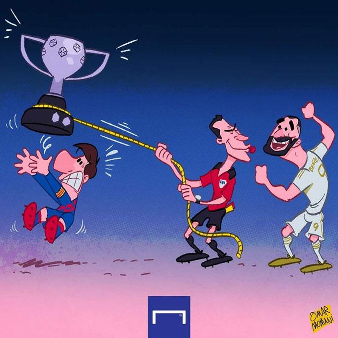 Trọng tài đang kéo cúp lại cho Real Madrid?