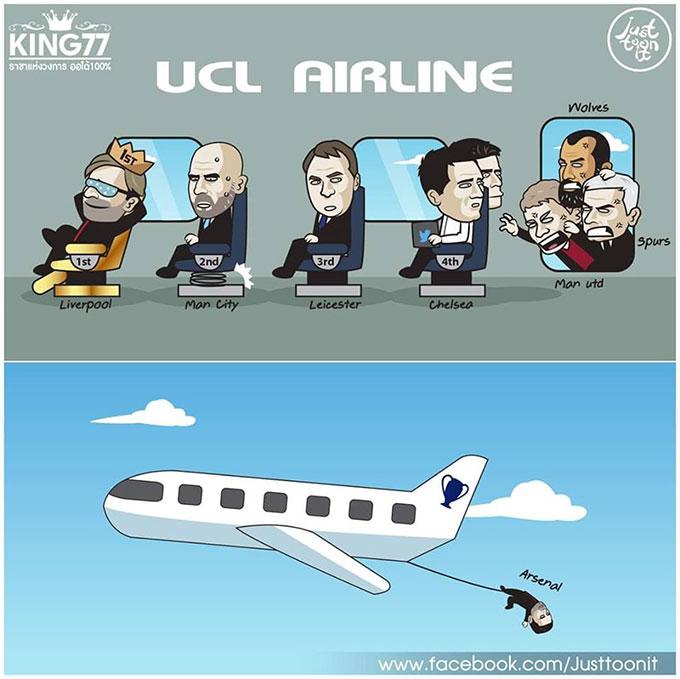 Arsenal đã tự mình nhảy khỏi chiếc máy bay đến cúp Champions League mùa sau