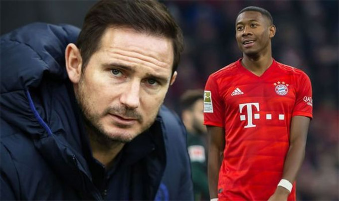 HLV Lampard muốn đưa Alaba về Stamford Bridge