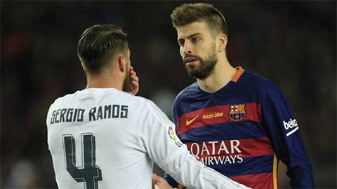 Ramos xỏ xiên Pique, khiến Ronaldo 'ghen tị' với tuyệt phẩm đá phạt