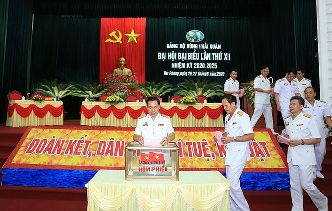 Đại hội bầu BCH Đảng bộ Vùng nhiệm kỳ 2020 - 2025 và Đoàn đại biểu đi dự Đại hội Đảng bộ Quân chủng lần thứ XIII