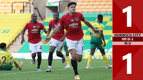 Norwich City 1-1 M.U, hiệp phụ: 0-1 (Tứ kết FA Cup 2019/20)