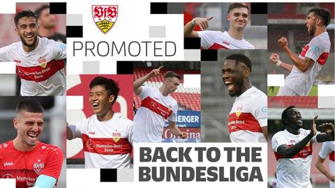 Stuttgart là đội thứ hai giành vé thăng hạng Bundesliga