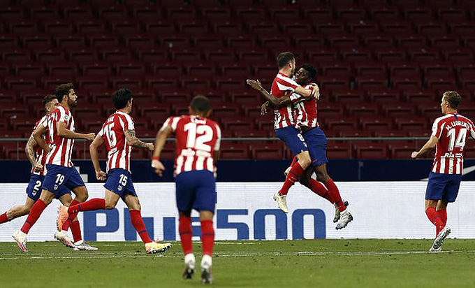 Atletico có chiến thắng thứ 4 liên tiếp