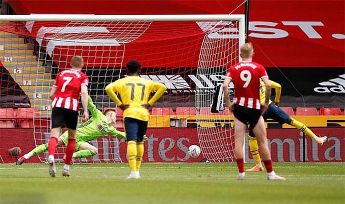 Tường thuật Sheffield Utd 1-2 Arsenal