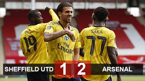 Sheffield United 1-2 Arsenal: Ceballos giúp Pháo thủ vào bán kết FA Cup