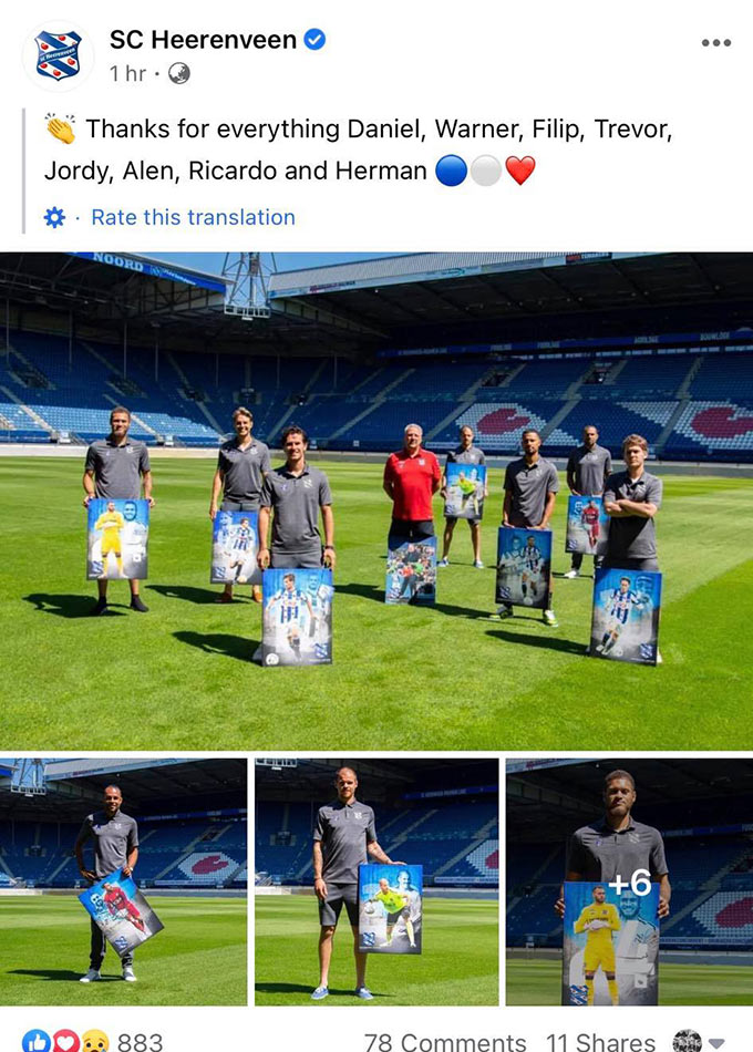 Heerenveen chia tay hàng loạt cầu thủ, trong đó không có tên Văn Hậu