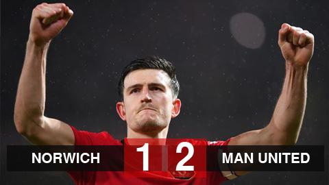 Norwich 1-2 M.U: Maguire tỏa sáng đưa Quỷ đỏ vào bán kết FA Cup