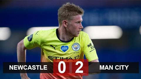Newcastle 0-2 Man City: De Bruyne & Sterling tỏa sáng đưa City vào bán kết gặp Arsenal