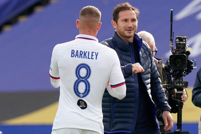 Một trong số các cầu thủ được Lampard tung vào sân trong hiệp 2 là Barkley đã ghi bàn duy nhất của trận đấu