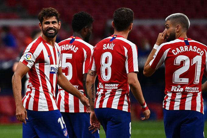 Atletico trở lại vị trí thứ 3 quen thuộc