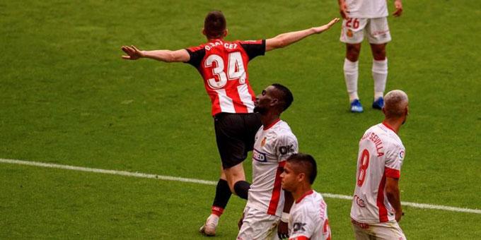 Mallorca (áo trắng) thất bại 1-3 trên sân của Bilbao và đối diện nguy cơ xuống hạng rất cao