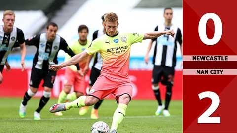 Newcastle 0-2 Man City (Tứ kết FA Cup 2019/20)
