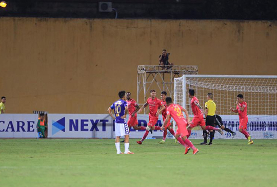 Sài Gòn FC ăn mừng. Ảnh: Đức Cường