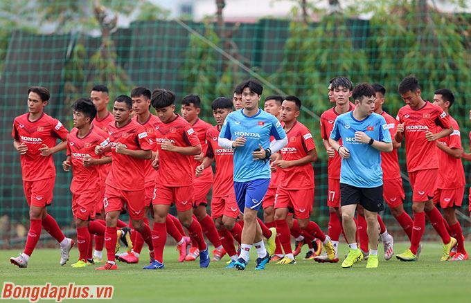 Có 28 cầu thủ U22 Việt Nam được tập trung và rèn quân trong vòng 3 ngày (từ 1-3/7)
