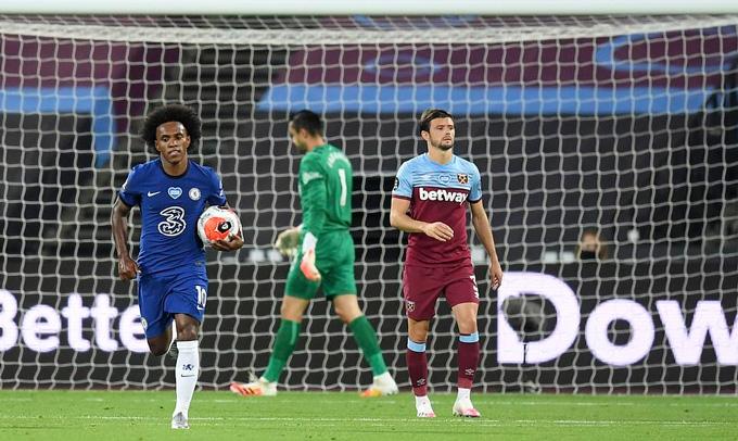 Sự tỏa sáng của Willian không đủ để Chelsea có chiến thắng