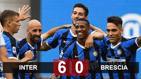 Inter 6-0 Brescia: Young & Sanchez nổ súng, Inter đánh tennis với Brescia