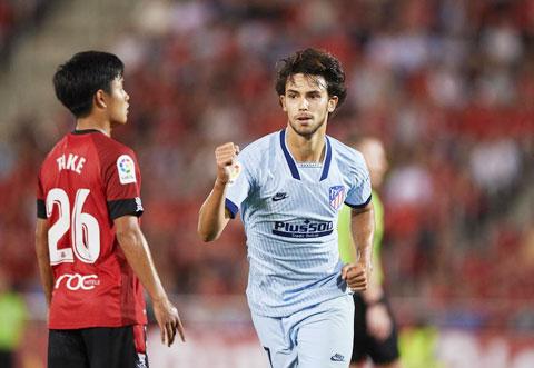 Felix (phải) và đồng đội sẽ dập tắt hy vọng kiếm điểm của Mallorca