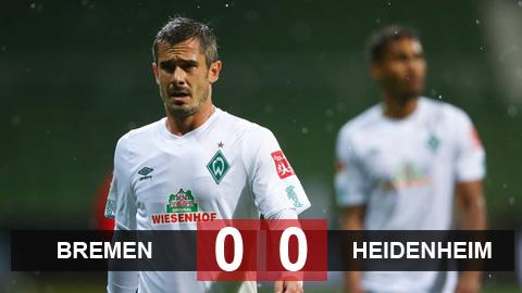 Bremen 0-0 Heidenheim: Bất lợi dành cho nhạc công
