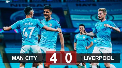 Man City 4-0 Liverpool: Cựu vương hủy diệt tân vương