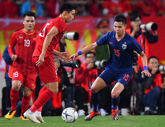 Việt Nam nắm trong tay lợi thế lớn trước Thái Lan ở vòng loại World Cup 2022 - Ảnh: Minh Tuấn