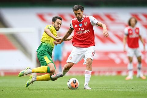 Ceballos (phải) và đồng đội khó lòng kiếm điểm trước đối thủ cá tính Wolves