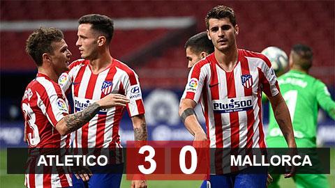 Kết quả Atletico 3-0 Mallorca: Giữ vững Top 3