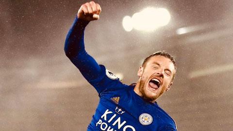 Vardy cán mốc 100 bàn ở Ngoại hạng Anh nhanh hơn Rooney và Drogba