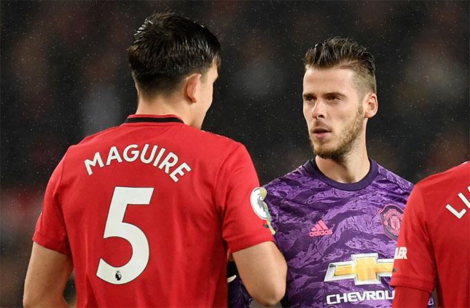 Cả De Gea và Maguire đều chơi không tốt ở trận M.U thắng Bournemouth