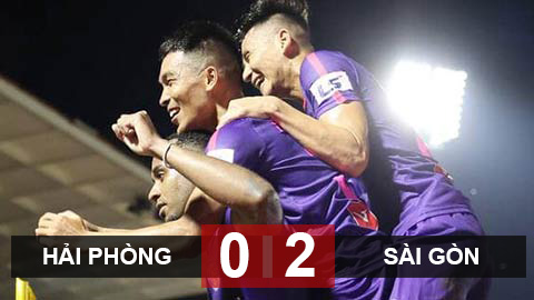 Hải Phòng 0-2Sài Gòn FC: Bất bại 8 trận, Sài Gòn lên đầu bảng V.League 2020