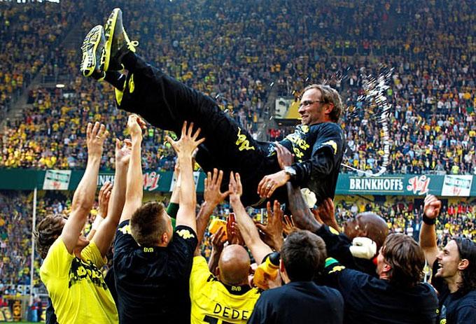 Klopp từng đưa Dortmund lên đỉnh cao và đứng vững trên đỉnh cao