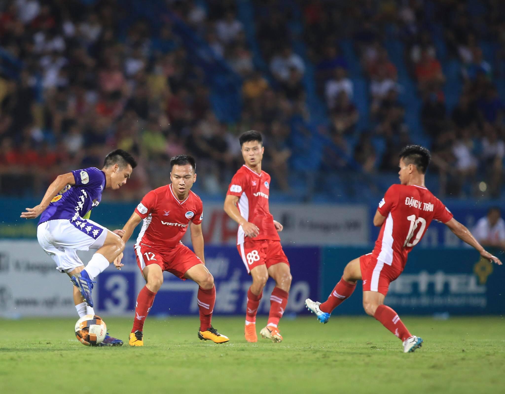 Viettel hài lòng với kết quả 1-1 trước Hà Nội - Ảnh: Minh Tuấn