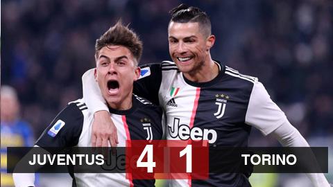 Juventus 4-1 Torino: Ronaldo lần đầu sút phạt thành bàn ở Serie A, Juventus bứt tốc trước Lazio