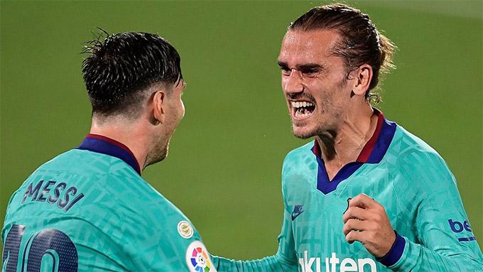 Messi vừa giúp Griezmann giải cơn khát bàn thắng