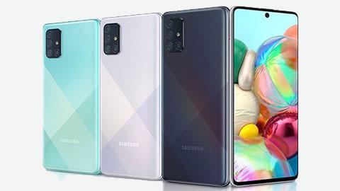 Samsung Galaxy A71 với Snapdragon 730, 8GB RAM, pin 4500mAh giảm giá kịch sàn tại VN