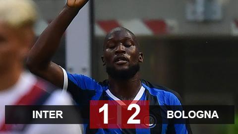 Kết quả Inter 1-2 Bologna: Inter thua ngược trong ngày Lukaku đi vào lịch sử