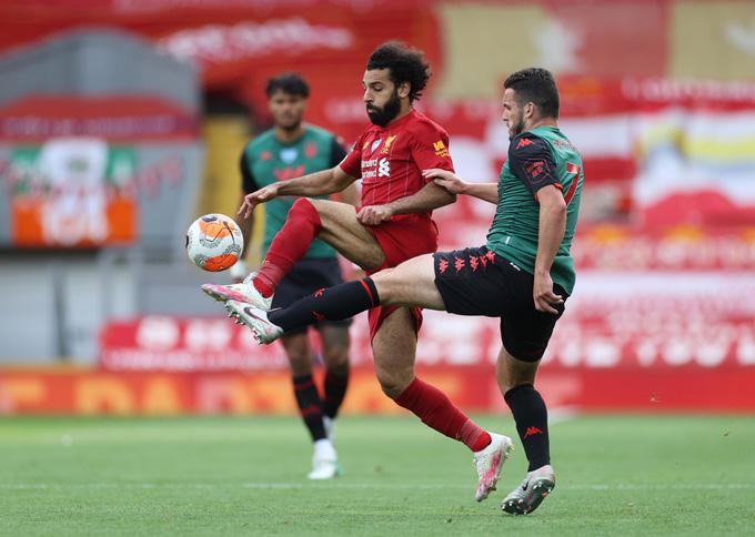 Liverpool thi đấu khá bế tắc trong hiệp 1