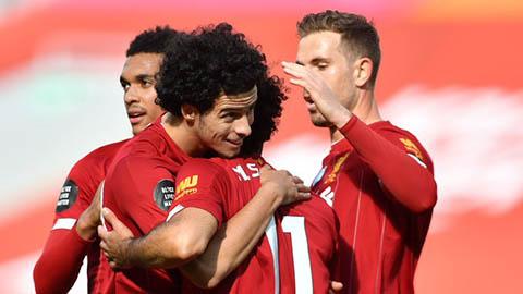 Klopp mừng ra mặt khi Liverpool đã biết thắng sau chức vô địch Ngoại hạng Anh
